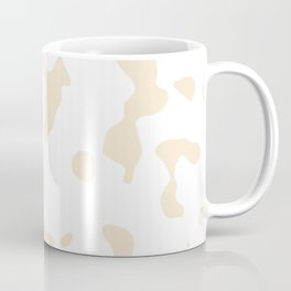 Large Spots - White and Champagne Orange Coffee Mug