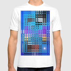 Photonic computers. Mens Fitted Tee MEDIUM White