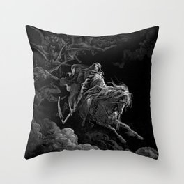 Death on the Pale Horse resized - Dore Throw Pillow