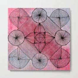 Zendala of Lines Metal Print
