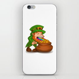 Vomiting Leprechaun St. Patricks Pot Of Gold iPhone Skin