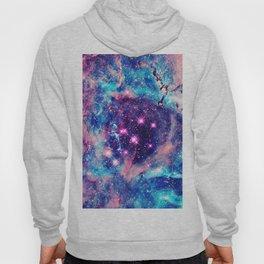 Trendy Pastel Pink Blue Nebula Girly Stars Galaxy Hoody