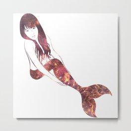 Ruby Mermaid Metal Print