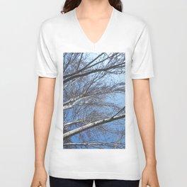 Blue sky through the trees Unisex V-Neck