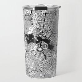 Canberra Map Gray Travel Mug