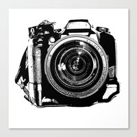 camera Canvas Prints featuring Camera by Luisa Mähringer