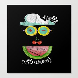 Hello, I'm Summer Canvas Print