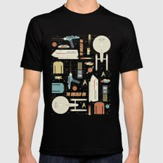 To Boldly Go... Mens Fitted Tee Black SMALL