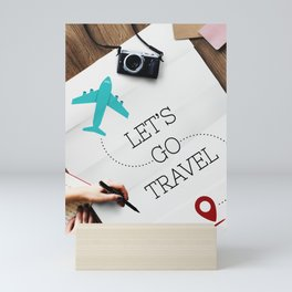 Let's Go Travel Mini Art Print