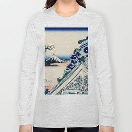 "Hokusai (1760-1849) ""Asakusa Hongan-ji temple in the Eastern capital [Edo]"" Long Sleeve T-shirt"