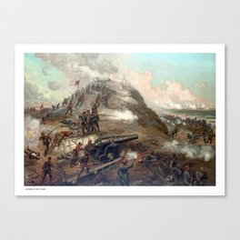 The Capture Of Fort Fisher Canvas Print