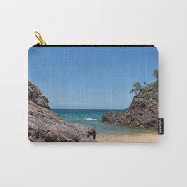 Tropical beach with rock Carry-All Pouch