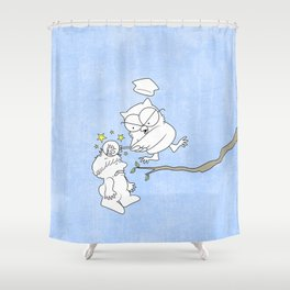 Mr. Owl's Revenge Shower Curtain
