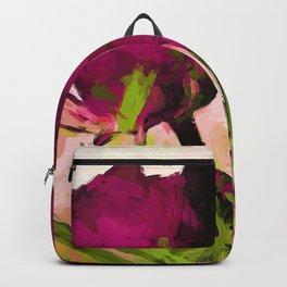 Rose Romantica Magenta Green Backpack