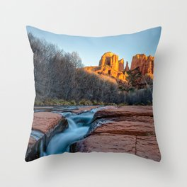 CATHEDRAL ROCK SUNSET SEDONA ARIZONA LANDSCAPE Throw Pillow