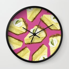 Key lime pie Wall Clock