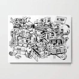 Sketchbook Composite - 1 Metal Print