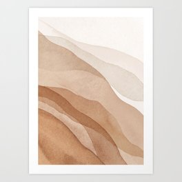 Mountains and hills Art Print
