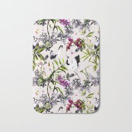 Crane bird in the exotic nature Bath Mat