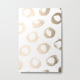 Luxe Gold City Dot Circles Metal Print