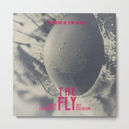 The Fly, horror movie poster, David Cronenberg, Jeff Goldblum, alternative playbill Metal Print