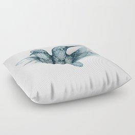 Conjoined Hummingbirds Floor Pillow