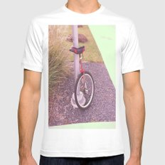 Unicycle Mens Fitted Tee MEDIUM White
