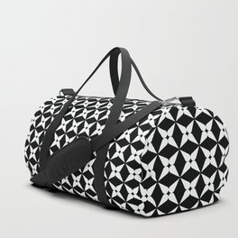 Geometric Pattern 247 (white crosses) Duffle Bag