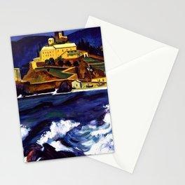 Cinque Terre, Italy Convent von Monterosso al Mare by Hermann Max Pechstein Stationery Cards