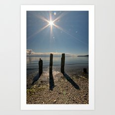 Three Pilings Standing Art Print