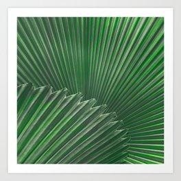 Elegant Simple Palm Bright Floral Print Art Print