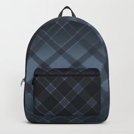 Dark gray pattern in the forward cage on satin grey background . Backpack