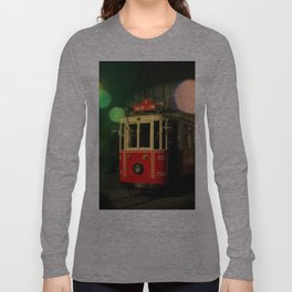 red tram in bubbles Long Sleeve T-shirt