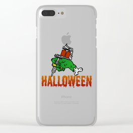 Happy Halloween - scary horror monster tattoo Clear iPhone Case