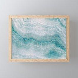 Sea green marble texture Framed Mini Art Print