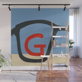 G is for Glasses Wall Mural
