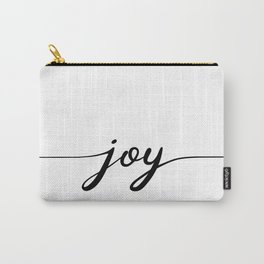 joy calligraphy line Carry-All Pouch
