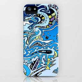 Swimming in the mind iPhone Case