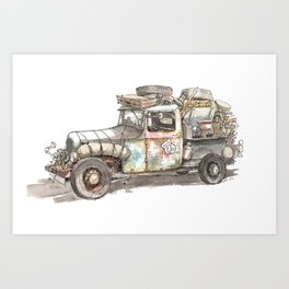 Dustbowl Truck Art Print