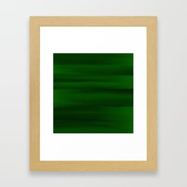 Emerald Green and Black Abstract Framed Art Print