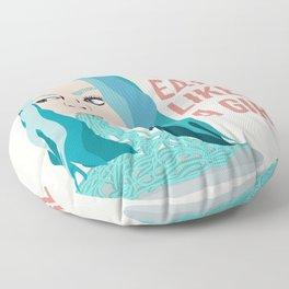 Eat Like A Girl Floor Pillow
