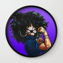 Naturally the Riveter PURPLE Wall Clock