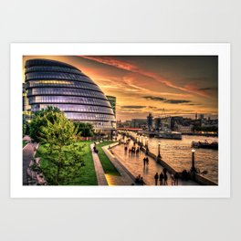 F O S T E R | architect | London City Hall Art Print
