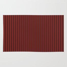 Aurora Red and Black Stripes Rug