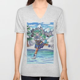 Miku on Ice Unisex V-Neck