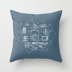 Smartphone 70's Throw Pillow