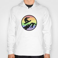 snowboarding Hoodies featuring snowboarding 2 by Paul Simms