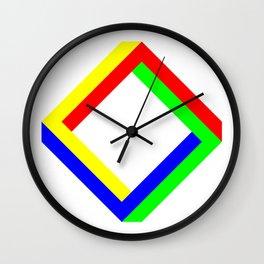 Penrose Square Rotate 45 Wall Clock