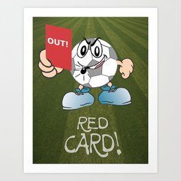 Red Card Comic Art Print