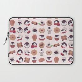 Cookie & cream & penguin - pink pattern Laptop Sleeve
